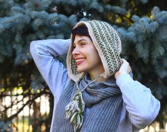 Riga Bonnet Hat Knitting Pattern