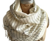Accounting Scarf. Accountant gift, CPA gift, tax preparer, bookkeeper gift. Ledger Paper Print linen weave pashmina. Silkscreen print.