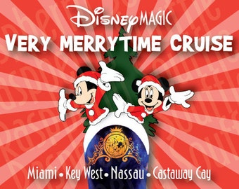 Disney Magic Bahamas Christmas Cruise Magnet 5x7