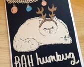 Bah humbug cat card