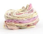 Specialty Yarn Inspiration Pack, Blossom, 30 metres assorted yarns bundle, mixed media supplies, textile arts, pink cream lemon, uk seller