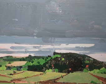 Black Hill, Original Plein Air Autumn Landscape Painting on Panel, Stooshinoff