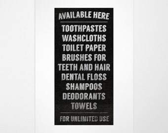 Available Here Black and White Bathroom Print- Bathroom Sign- Bathroom Wall Decor- Bathroom Decor- Bathroom Art Print- Bathroom Funny