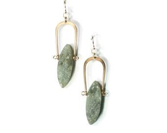 Labradorite Amulet Earrings