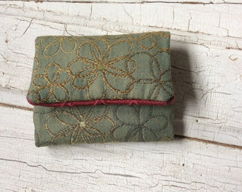 Fabric purse/small wallet/card holder/305