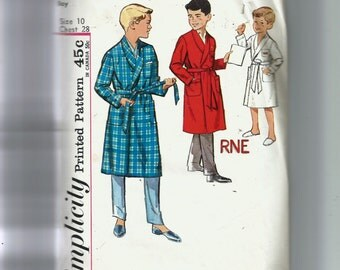 Simplicity Boy's Robe Pattern 4740