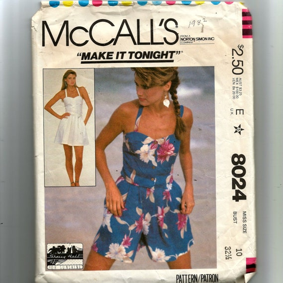 McCall's Misses' Camisole, Skirt and Culottes Pattern 8024