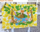 35% OFF CRAZY SALE- Vintage Retro Pillowcase- Standard Size -Give a Hoot-Don't Pollute