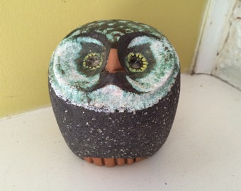 RARE Nittsjo Sweden Brutalist Mid Century Owl / Marked / Bird / Sculpture Figurine