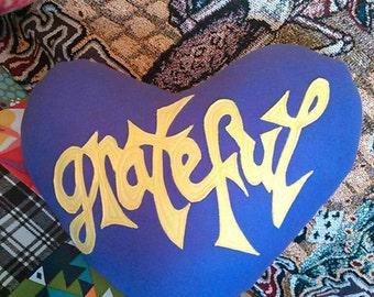 CUSTOM Made2order - LoVe Stuffins©... GRATEFUL-HeaRT... Steal Your Heart - Stole My Heart... Grateful Dead - Throw PiLLoW... 2side applique