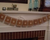 Banner Wedding Shabby Chic country bridal anniversary party garland decoration bunting