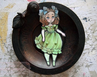 Jointed Articulated Paper Dolls -Paper Goods - Hand-painted - Cut and Assembled - Little Miss Octavia - The Victorian Dolls Series 004