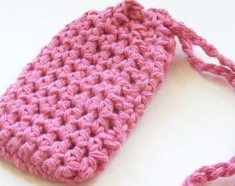 Cotton Crochet Soap Saver, Pink Crochet Soap Saver, Crochet Soap Sack, Crochet Soap Bag, Ecofriendly, Reusable