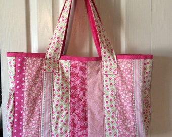 Pink Quilted Diaper Bag