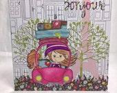 Bonjour handmade card