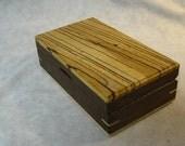 Watch Case-Eyeglass Case-Book matched Zebra wood & Walnut - MLB 123