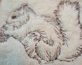 On Reserve for shedgpeth1 set of 3 towels 9 towels total Pinebranch and cone Dog and Squirrel