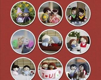 Love Story Series Amigurumi Patterns - 9 Patterns
