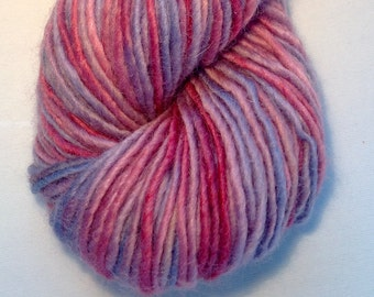 Hand dyed Aran weight yarn - indie dyed yarn - art yarn - indie dyed aran yarn, Astrantia sock yarn