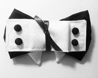 Wedding dog Bow Tie Collar and Cuffs Formal Dog Attire Dog Wedding Accessories Custom Satin Colors