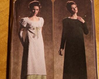 Historical dress pattern, Simplicity 4055, size HH