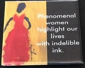 Phenomenal Women Quote Square Magnet