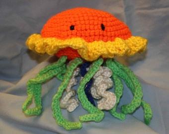 Marmalade Jellyfish - amigurumi plush