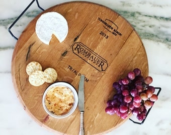 Wine Cask Serving Tray (Rombauer)