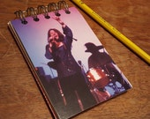 Janis Joplin Spiral Notepad Blank Paper  Pages Classic Rock Blues Fun Small