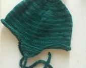 Forest Green Ear Flap Hat