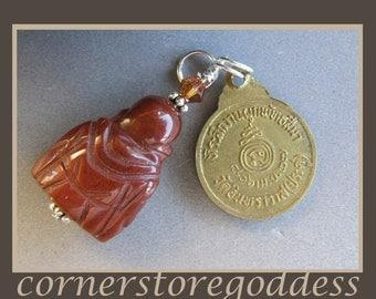 Jasper Buddha Charm Zipper Pull Pendant by Cornerstoregoddess