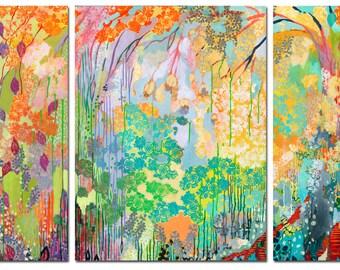 Summer Rain Triptych - Three (3) Fine Art Prints by Jenlo