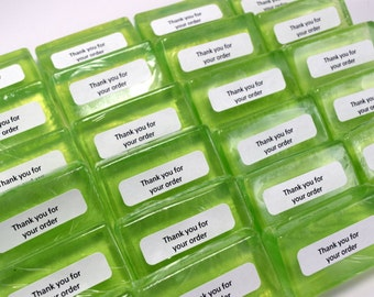 Thank You For Your Order Soaps, Small Sellers Thank You Gifts, 24 Guest Sized Soaps