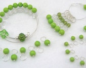 Complete Knitting Set - Healing Gemstone - Lime Chalk Turquoise
