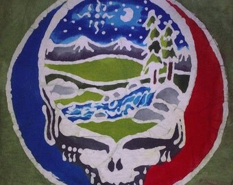 Women's Handmade Batik Grateful Dead Steal your River Mountain
