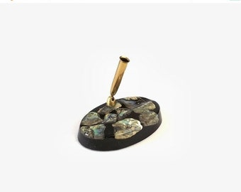 Acrylic Abalone Pen Holder, Souvenir Desk Caddy, Gift For Dad, Home Office School Supply, Fathers Day Gift