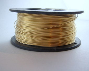 Brass Wire Premium Half Hard Round Solid Bare Wire Jewelers Brass Red Brass Rich Low Brass 20 Gauge One Pound on a spool