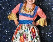 ON SALE Sizes 12m, 4 Girls Winter Dress, Long Sleeve Dress, Knit Dress,  Little Girls Boutique Dress, Toddler Dress, Peasant Dress - RTS