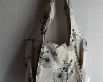 The Eunice Penny Farthing - OOAK Tote