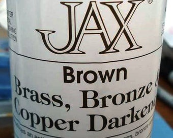 4 oz. (118 ml) - Jax Brown Darkener for Copper, Brass & Bronze