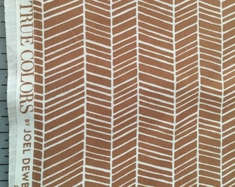 Joel Dewberry Tan Nude Herringbone True Colors Collection Modern Cotton Fabric by the yard from Shereesalchemy
