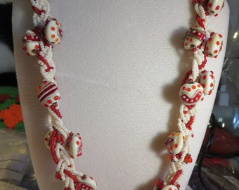 Grace Beads Red Bundle Necklace