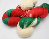 Christmas is Coming - Hand Dyed Yarn - Dyed to Order
