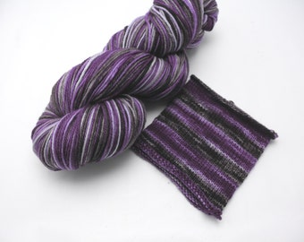 Viola Overboard Watercolor Stripes - Self-Striping Targhee Sock Yarn Made to Order