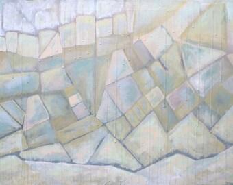 50 Shades Abstract Painting - Maxine Orange 24x36