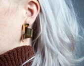 coming soon - gold coiled earrings / loop earrings / gold hoop earrings / 793a