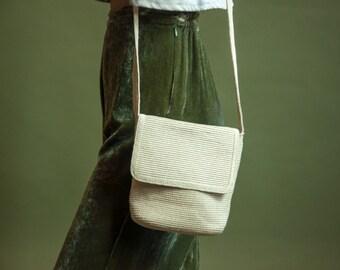 long crochet purse / long cream purse / woven simple purse / 1154a