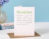 Musician Definition Card