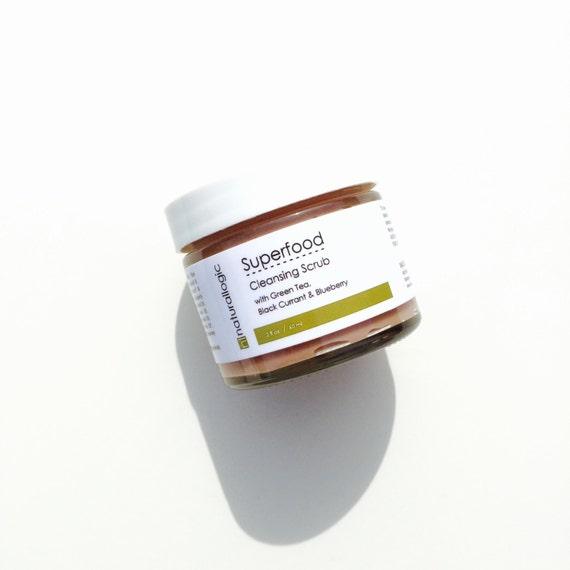 Superfood Cleansing Scrub. Facial Scrub. Face Scrub. Natural Organic Chemical Free Non-Toxic Skin Care. Vegan.