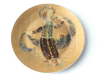 Modernist Bjorn Wiinblad Scheherazade Porcelain Charger Platter Rosenthal Mid Century Modern